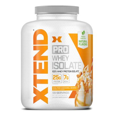 Xtend X Pro Whey Isolate 5lb Salted Caramel shake